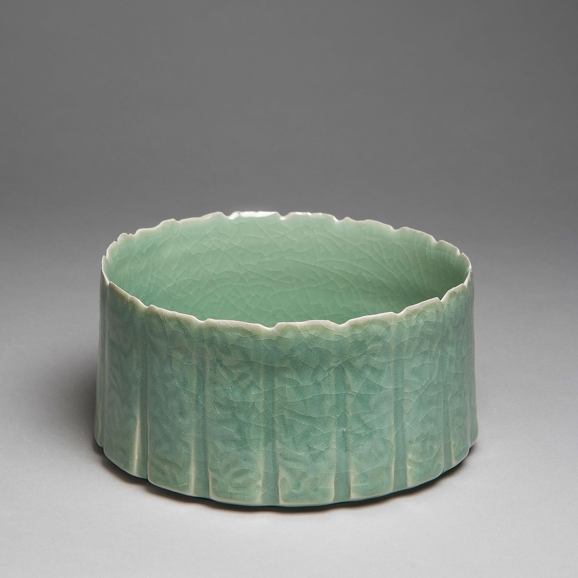 Marie-Laure Guerrier, bassin en porcelaine émaillée 4